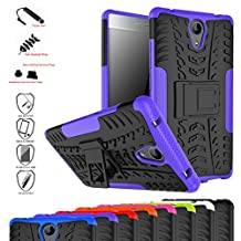 Lenovo Phab 2 Case,Mama Mouth Shockproof Heavy Duty Combo Hybrid Rugged Dual Layer Grip Cover with Kickstand For Lenovo Phab 2 Smartphone(With 4 in 1 Free Gift Packaged),Purple