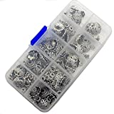 1Box Silver DIY Accessories Bali Style Spacer Beads Charms Jewelry Making for Handmade Beaded Hand Chain Charms Bracelet Necklace Material Package(Mixed)
