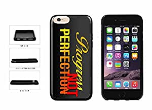 Progress not Perfection TPU RUBBER Phone Case Back Cover Apple iphone 4 4s inches screen) includes diy case Cloth and Warranty Label
