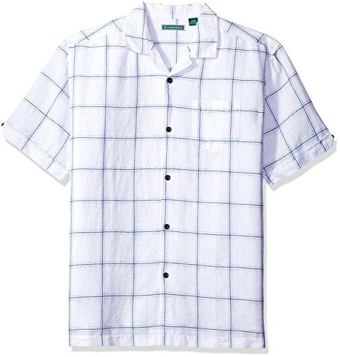 Linen Blend Camp Shirt - 7
