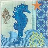 Coastal Serveware - Seahorse Glass Plate - Nautical Serving Plate