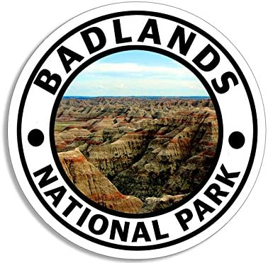 <span style=''>American Vinyl Round Badlands National Park Sticke..</span>