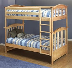 Orbelle Twin Over Twin Bunk Bed, Natural by Orbelle Trading