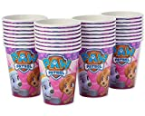 American Greetings Paw Patrol Pink Paper Party Cups, 32-Count, Paper Cups