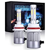 ECCPP 9007 LED Headlight Bulb Hi/Lo Beam White Fog Lights Conversion Kit - 80W 6000K 10400Lm - 3 Year Warranty(Pack of 2)