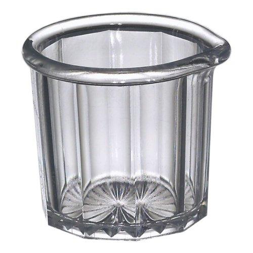 Creamer Syrup Pitcher - Gessner 1500 CLEAR SAN Plastic 2 Oz. Creamer / Syrup Pitcher - Dozen