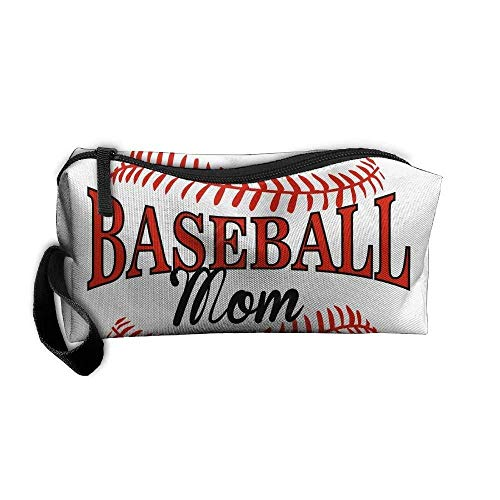 Portable Multifunction Travel Storage Pouch Baseball Mom Cosmetic Case Kit Medicine Bag