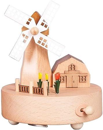 Gvfhj Decoracion de Escritorio,coleccionables Decorativos Estatua Ornamento Caja De Música Artesanías De Madera S Enviar Amigos Cumpleaños Carrusel: Amazon.es: Hogar