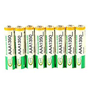 YL 1350mAh BTY Ni-MH AAA 1.3V Rechargeable Battery 8pcs