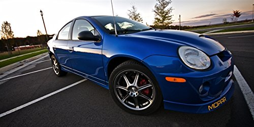 Dodge SRT4 Blue Right Front Turbo Neon Wide Aspect HD Poster Sports Car 48 X 24 Inch Print