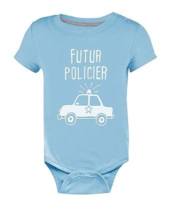 Green Turtle T-Shirts Futur Policier -Cadeau Naissance pour Enfant de  Policier Body Bébé Manche Courte  Amazon.fr  Vêtements et accessoires f4a940ed78f