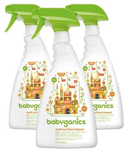 Babyganics Multi Surface Cleaner, Citrus, 32oz Spray Bottle, (Pack of 3)