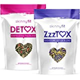SkinnyFit Detox and ZzzTox 24/7 Bundle, 56 Servings, Supports Weight Loss, Helps Calm Bloating, All-Natural, Laxative…