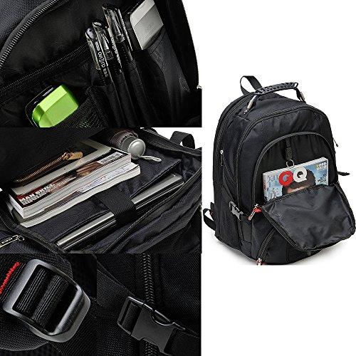 Schultaschen Laptop Backpacks Rucksäcke Business Rucksack für Männer Aktentasche Notebook Computer Rucksack Daypacks Uni Schultaschen Wanderntasche (Schwarz) Hellgrau
