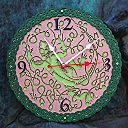 Celtic knots green Lizard HANDCRAFTED wooden wall clock, unique kitchen vintage style decor, housewarming, Victorian, gift, wall decor, Anniversary Gift, kitchen clocks wall