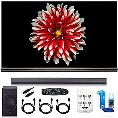 "LG 65"" Signature OLED 4K HDR Smart TV OLED65G7P w/LG SJ8 Sound Bar Bundle"