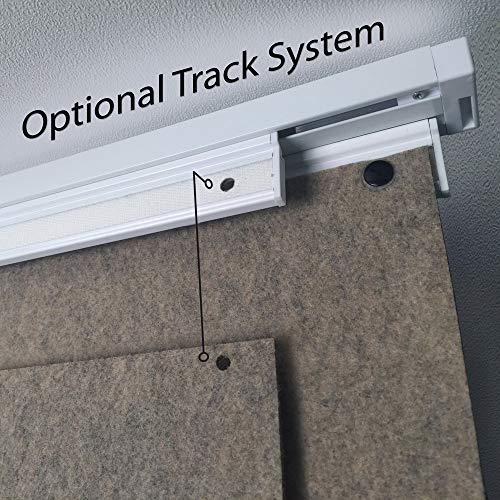 Laser Felt Room Divider Hanging Track System Two Channel White Anodized Aluminum with Mounting Anchors (Aluminum, 72 inch) (System Room Divider)