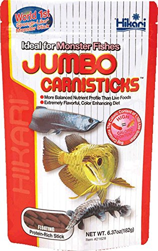 Hikari Inc AHK21628 carnivoreivore Sticks Jumbo 6.37 -Ounce (Best Food For Arowana Fish)