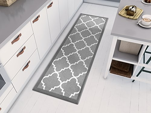 Well Woven 6518-2S Kings Court Brooklyn Trellis Modern Grey Geometric Lattice 1'8