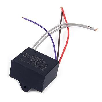 LETAOSK CBB61 Kondensator 2, 5uF + 3, 5uF + 4uF 5 Draht 250VAC ...