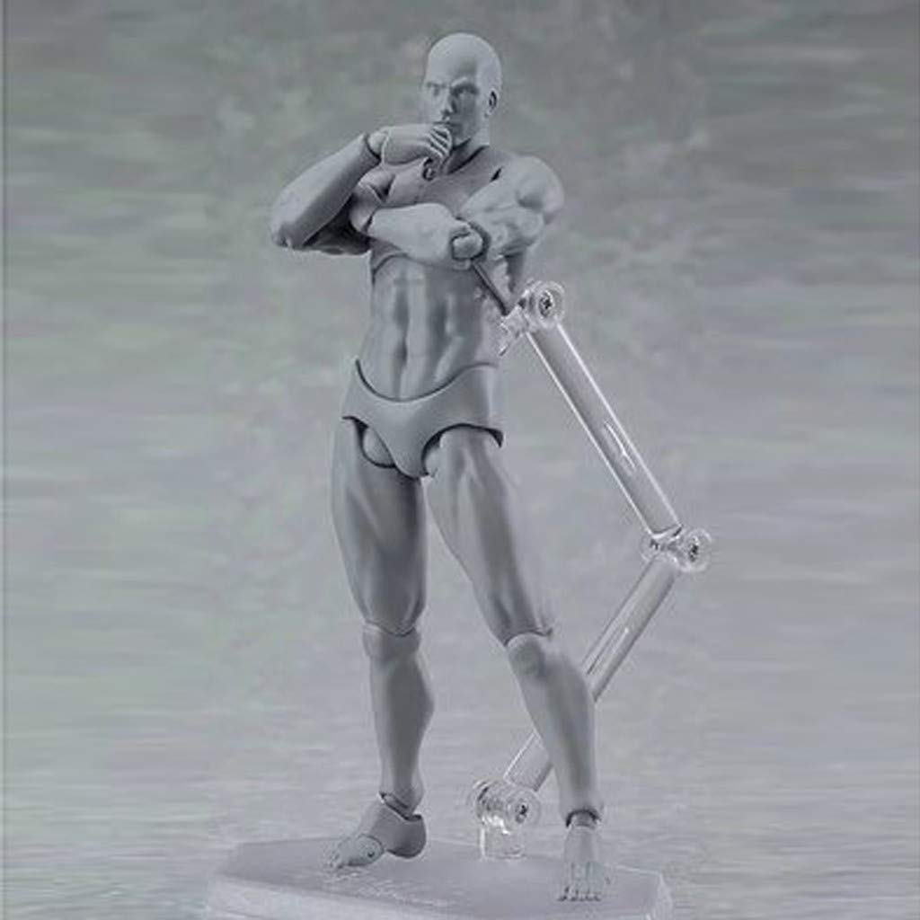 grau Shenye Drawing Figures for Artists Action Figure Model Human Mannequin Man and Woman Set