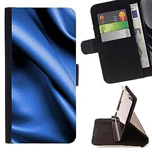 - Blue fabric texture - - Monedero PU titular de la tarjeta de cr????dito de cuero cubierta de la caja de la bolsa FOR Samsung Galaxy S6 EDGE RetroCandy