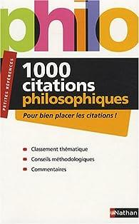 1000 Citations de philosophiques par André Vergez