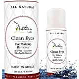 "The Best Natural Eye & Face Makeup Remover - Oil Free - Rich Vitamins - Non Irritating - No Hazardous Chemicals - ""Clean Eyes"" By Nature Lush - Made In Greece 4.4 oz"