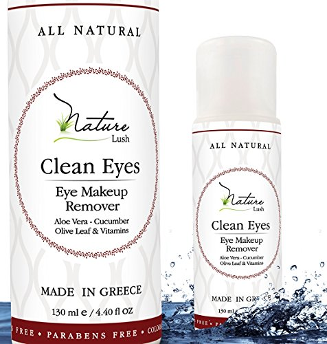 "The Best Natural Eye & Face Makeup Remover - Oil Free - Rich Vitamins - Non Irritating – No Hazardous Chemicals - ""Clean Eyes"" By Nature Lush - Made In Greece 4.4 oz by Nature Lush"