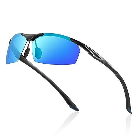 Avoalre® Gafas de Sol para Hombre de Metal Polarizadas Al-MG y TR90 Super Light UV400 con Certificación CE - Azul