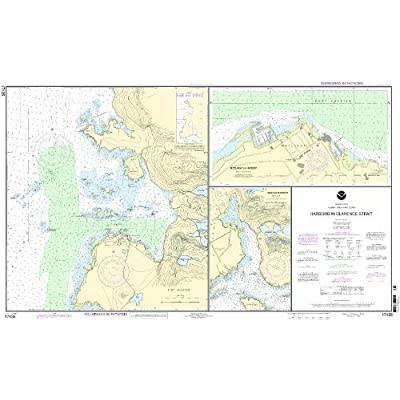 NOAA Print-On-Demand chart Harbors in Clarence Strait Port Chester, Annette Island;Tamgas Harbor, Annette Island;Metlakatla Harbor 14th Edition Model: 17435 by NOAA