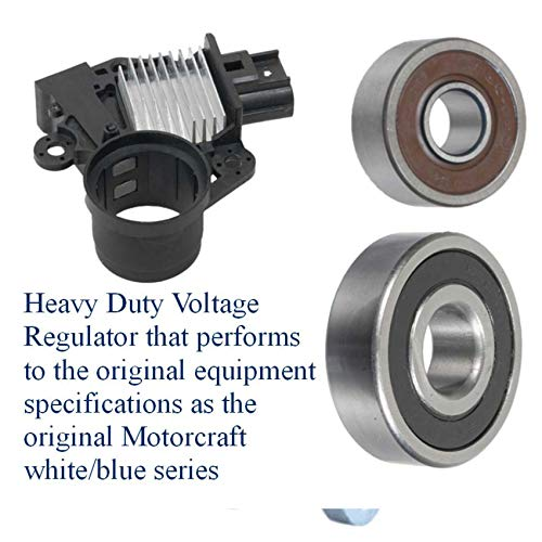 Alternator Rebuild Kit Compatible for Ford Mustang Shelby GT500 5.4L 2007-2008 Regulator, Bearings, Brushes - 8517RK