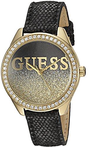 GUESS U0823L6 Gold Tone Crystal Accented Genuine