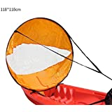 Outdoor Warriors Downwind Paddle Kayak Wind Sail Kit 46 inches Kayak Canoe Accessories, Compact, Portable, Easy Setup & Deploys Quickly
