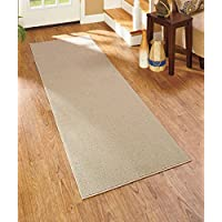 Extra Wide and Long Nonslip Runners Home Hall Kitchen Accent Mat Rug (28 x 120, Sand)