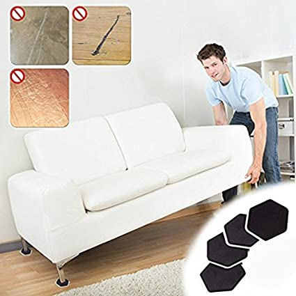 Cosdimo 4Pcs Furniture Moving Sliders Mover Pads Moving Furniture Gliders  Hardwood Floor Protectors Carpet Flooring Coaster
