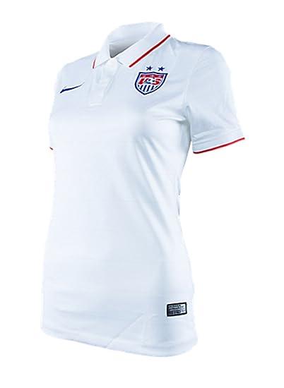 3a050cae1 Amazon.com: Nike Women's Soccer U.S. Home Jersey White: Sports ...