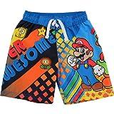 Nintendo Mario Boys Blue Swim Trunks SM3L0004