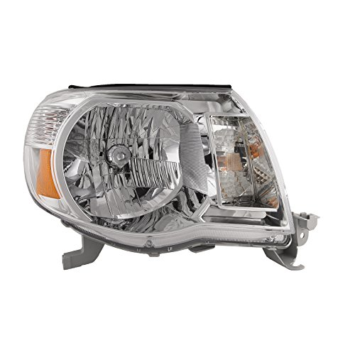 Headlights Depot Replacement for Toyota Tacoma Base Model New Passenger Side Replacement Headlight