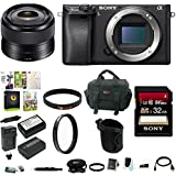 Sony a6300 Mirrorless Digital Camera w/35mm f/1.8 OSS E-Mount Prime Lens & 64 GB Memory Card Bundle