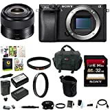 Sony a6300 Mirrorless Digital Camera Body Bundle (35mm Lens Bundle)
