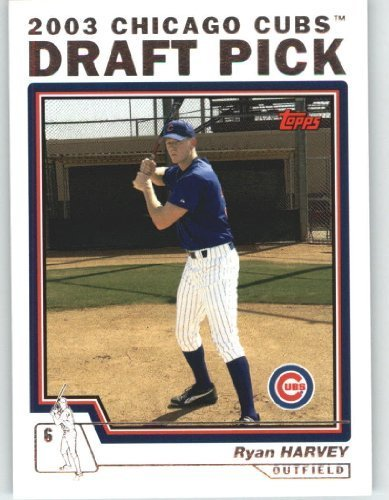 2004 Topps Baseball Card # 685 Ryan Harvey DP (Draft Pick) Chicago Cubs - MLB Trading Card (2004 Topps Draft)