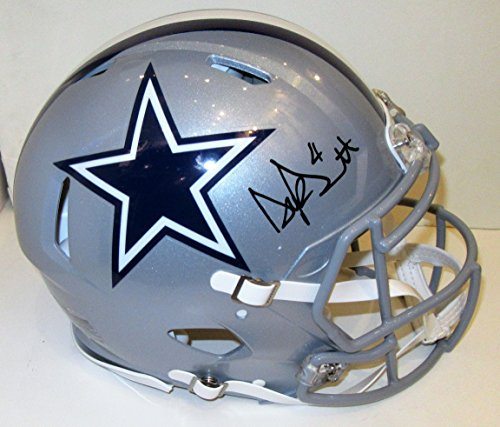 Cowboys Helmet Dallas Autographed Pro - Dak Prescott Autographed Dallas Cowboys Pro Authentic Helmet. Signed at private autograph session. JSA COA