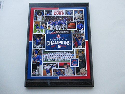 CHICAGO CUBS 2016 WORLD SERIES CHAMPIONS COMPOSITE PHOTO MOUNTED ON A '9 X 12' BLACK MARBLE PLAQUE World Series Champions