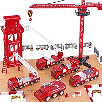 Amazon Com Kidkraft Fire Station Set Toys Amp Games