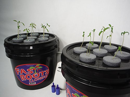 FAST ROOTS CLONERS 14 Site Indoor Plant Propagation Cloning System - Complete Aeroponics Air Bubbler Kit