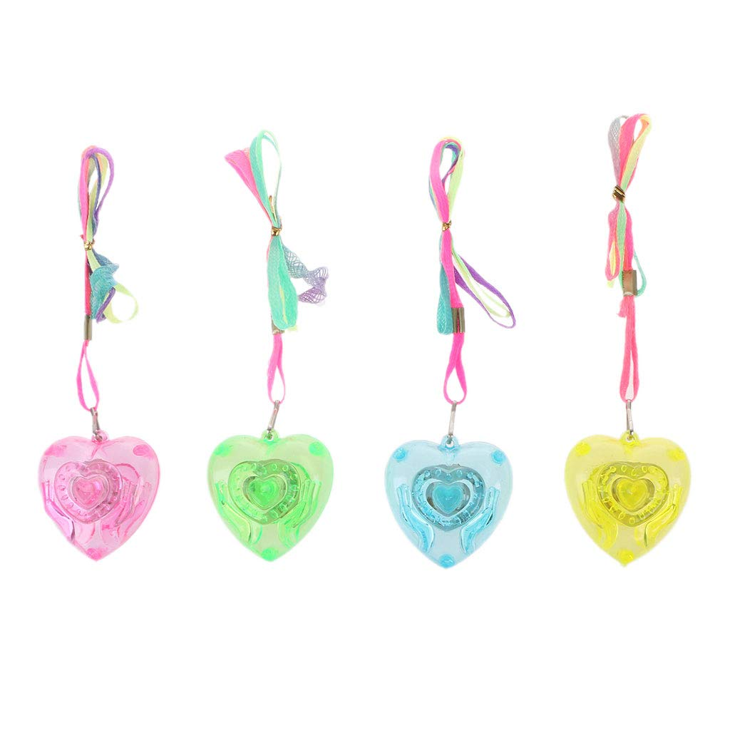 Aiyouxi Pentacle Star Heart Shape Colorful LED Sparkle Necklace Shining Pendants Party Favors Kids Toy Light Up Toy