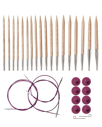 Circular Interchangeable Needles Knitting (Knit Picks Options Interchangeable Sunstruck Wood Circular Knitting Needle Set)
