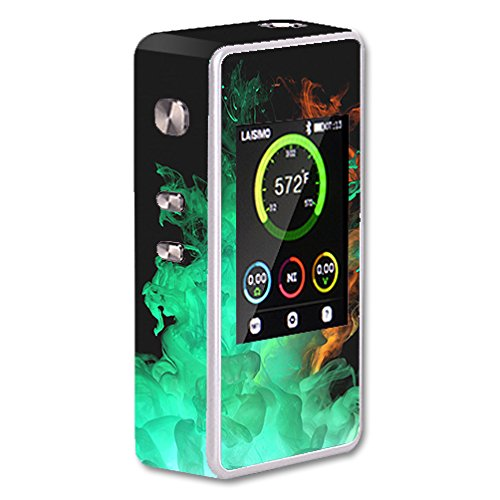 Skin Decal Vinyl Wrap For Laisimo L1 200w Tc Vape Mod Box / Orange Green Smoke