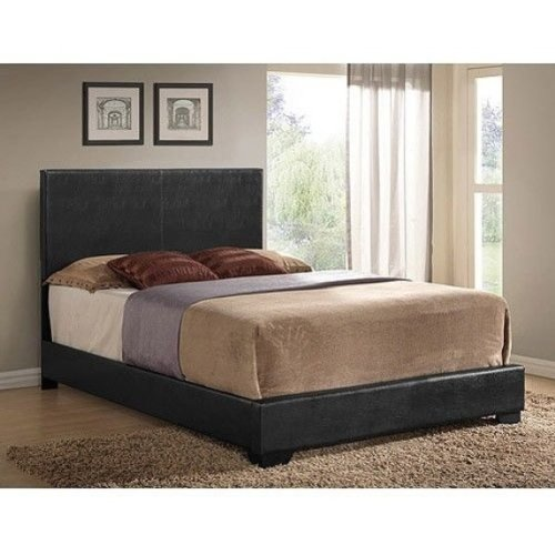 Ireland Queen Faux Leather Bed, Brown